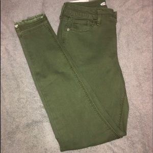 Olive Green Rockstar Super Skinny Old Navy Jeans